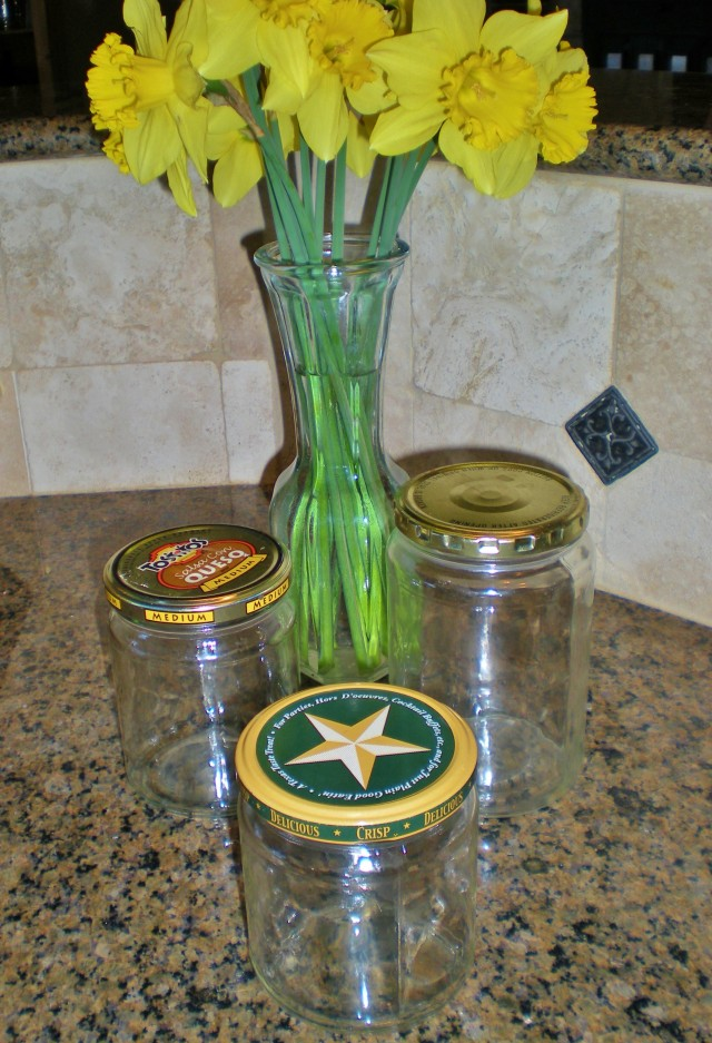 What items can be repurposed from their original use before throwing away? Read what we do with glass and plastic jars and holey socks. #TaylorMadeHomestead