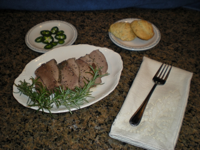 When my talented hunter-husband 'brings home the bacon', I pull out the slow cooker and make a delicious pork roast with red wine broth. #TxHomesteader