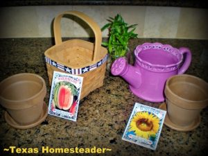 Treat mom to garden goodies. Looking for simple, inexpensive Mother's Day gifts for your eco-conscious mom? We've made a list of our favorites. #TexasHomesteader