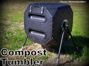 Compost tumbler. Looking for simple, inexpensive Mother's Day gifts for your eco-conscious mom? We've made a list of our favorites. #TexasHomesteader