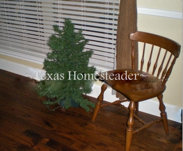 She takes this unassuming, small Christmas tree and turns it into something beautiful, meaningful & sentimental. #TexasHomesteader