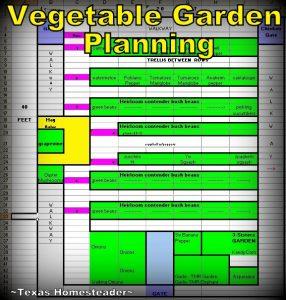 Vegetable garden planning spreadsheet. Even though it's only February & cold outside, there are still garden chores to be done. Come see how I'm preparing the veggie garden. #TexasHomesteader