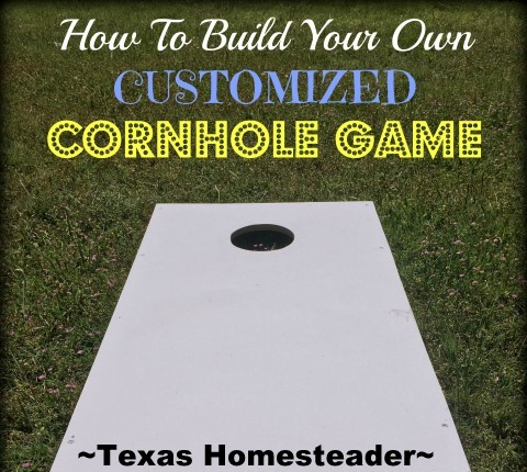 Customized Cornhole Game. It's So Much More Fun Having A Family Reunion RANCH STYLE! Check Out Our Event. #TexasHomesteader