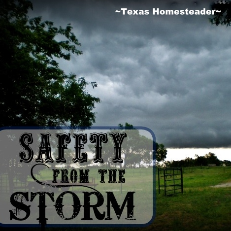 TORNADO SEASON is right around the corner so I'm preparing our storm shelter for those late-night runs to safety. See my preparations. #TexasHomesteader