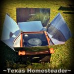 Solar Oven. here are many gift options for environmentally-aware for friends. Help them ditch the plastic with a safety razor or glass water bottle - many gift ideas! #TexasHomesteader