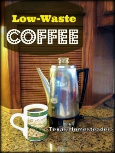 We think our vintage percolator offers an exceptional cup of coffee. There are many reasons we prefer it over the newfangled ones of today #TexasHomesteader