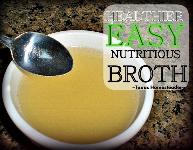 Making my own chicken broth is easy, inexpensive and healthy. And there's a special ingredient to make it even more calcium rich. #TexasHomesteader