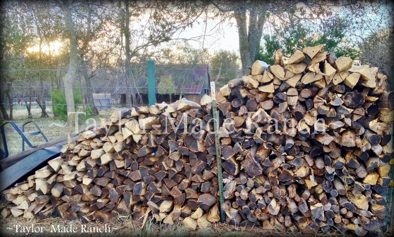 Wordless Wednesday: Cold weather's coming, wood is stacked & ready!  #TaylorMadeRanch