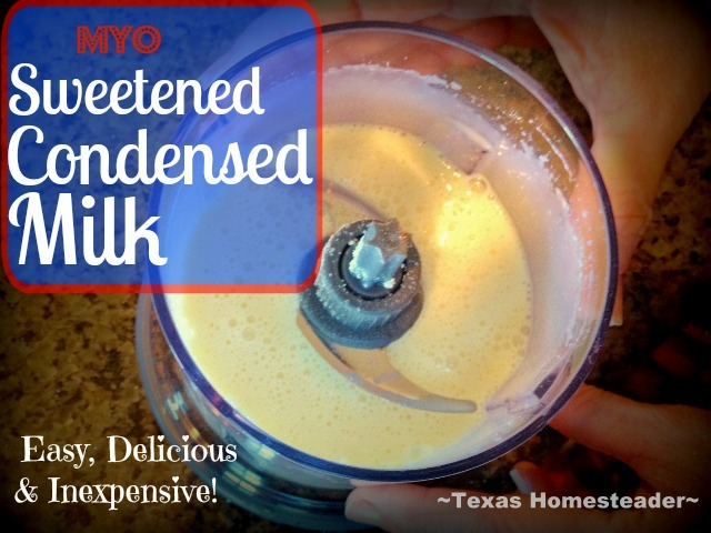 It's shocking how easy it is to make sweetened condensed milk. In our area a can of the name-brand stuff sells for about $3.49. CRAZY! #TexasHomesteader