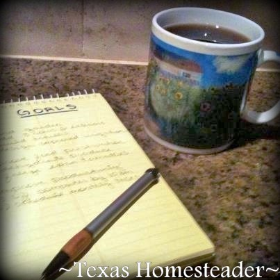 I quit making New Year's Resolutions & starting making New Year's GOALS. But you need a way to actually them, see what works for us. #TexasHomesteader