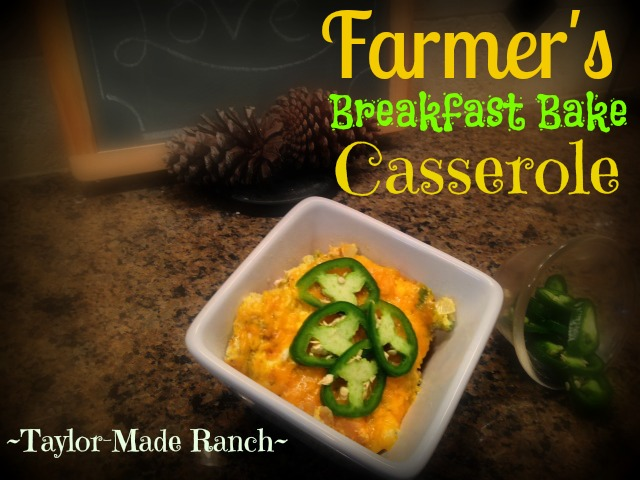 We have lots of fresh eggs and this Farmer's Breakfast-Bake Casserole recipe is a delicious, easy way to use them. #TaylorMadeHomestead