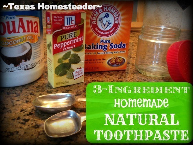 3 SIMPLE INGREDIENTS FOR HOMEMADE TOOTHPASTE - I try to provide things for myself so I'm making toothpaste using simple pantry ingredients #TexasHomesteader