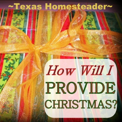 Some families are stressing over not being able to 'provide Christmas' for their children, assuming that Christmas itself comes from a store #TexasHomesteader