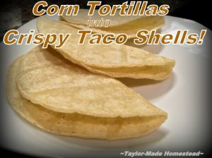 Do you hate to waste money on hard, stale taco shells? Check out this easy Crispy Baked Taco Shells Homestead Hack & make your own! #TaylorMadeHomestead
