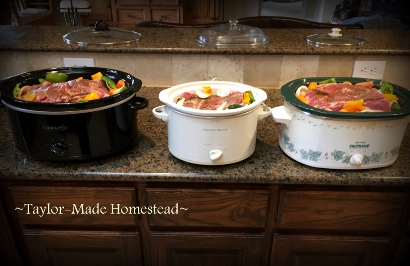 I like to cook with planned leftovers in mind. Recently I cooked up a huge pork roast in a slow cooker. See what I have planned. #TaylorMadeHomestead