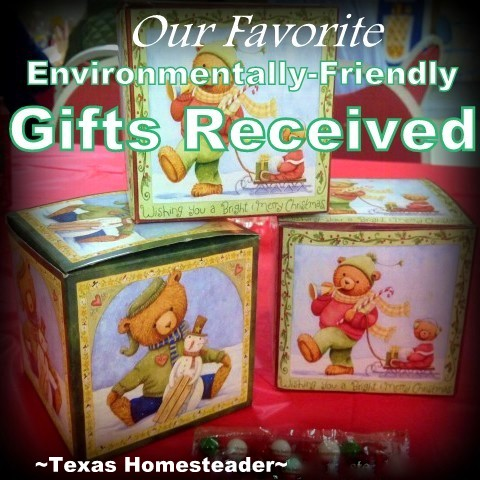 We received thoughtful low-waste Christmas gifts that were also environmentally friendly. Come see what we got! #TexasHomesteader