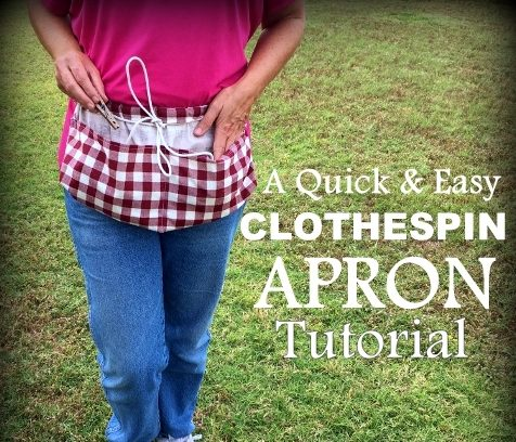 Throwback Thursday - clothespin apron tutorial. #TexasHomesteader