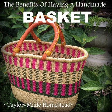 I bought a handmade basket and look forward to using it in many various ways. Today I share the main way I use my basket: shopping! #TaylorMadeHomestead