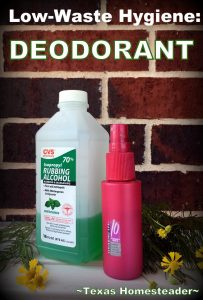 I've been mindful of the waste in my personal hygiene routine. I'm making my own mouthwash & bar soap. Let's talk about deodorant! #TxHomesteader