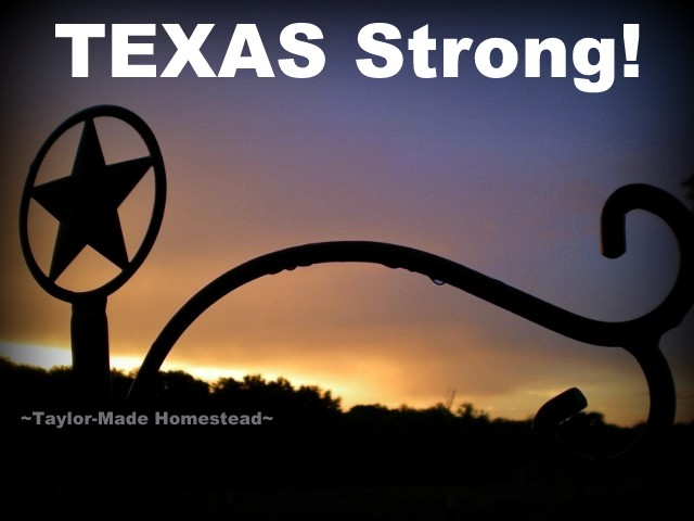 Our fellow Texans to the south of us on the Gulf Coast really took a lashing when hurricane Harvey came to shore. But we're TEXAS Strong! #TaylorMadeHomestead
