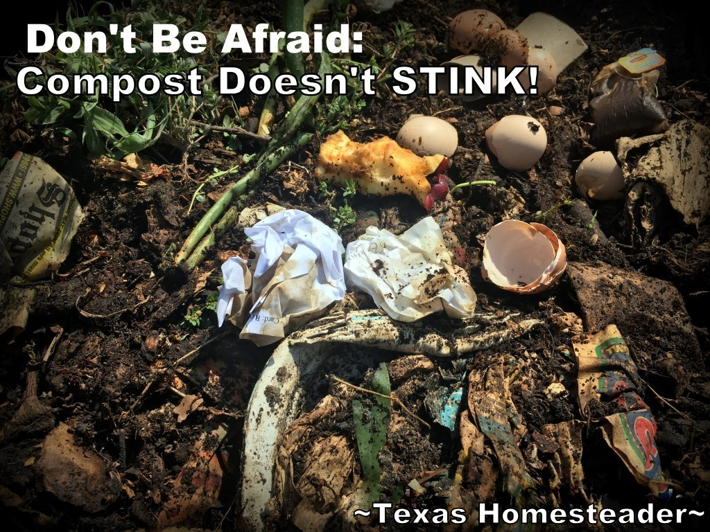 Are you new to composting? Do you worry it'Are you new to composting? Do you worry it's going to stink? Worry not - check out this Fall-Back Friday post about composting. #TexasHomesteader