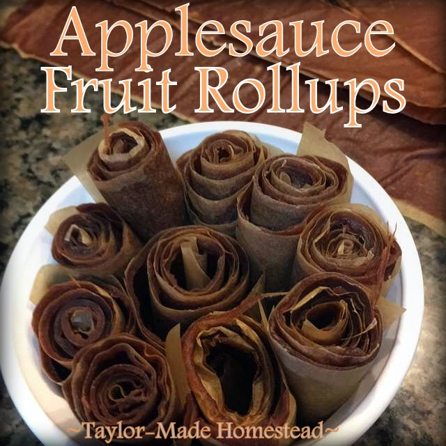 In preserving all the fresh apples my aunt shared with us, I decided to make fruit leather roll ups. It was easy! #TaylorMadeHomestead