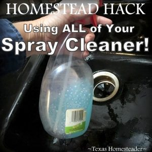 When I get to the bottom of the cleaning spray bottle I have a hard time getting it to spray. Check out this easy HOMESTEAD HACK! #TexasHomesteader