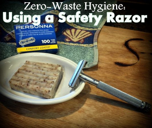 A Safety Razor is a great zero-waste option! We've been using vintage safety razors for years with nary a cut. Don't be afraid - they take a little getting used to but they're easy to use! #TexasHomesteader