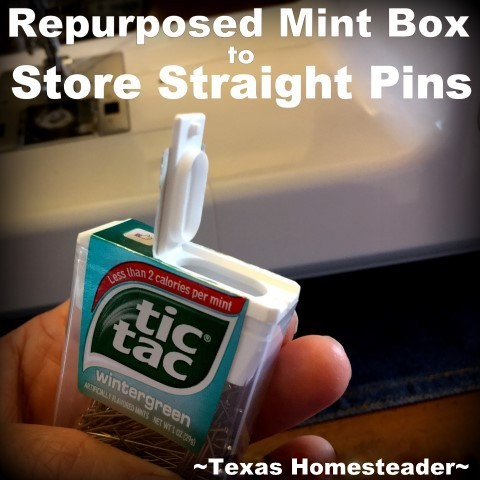 I needed a storage solution for my straight-pin supply. It needed to be compact and allow me to safely retrieve my pins. Check out this Homestead Hack! #TexasHomesteader