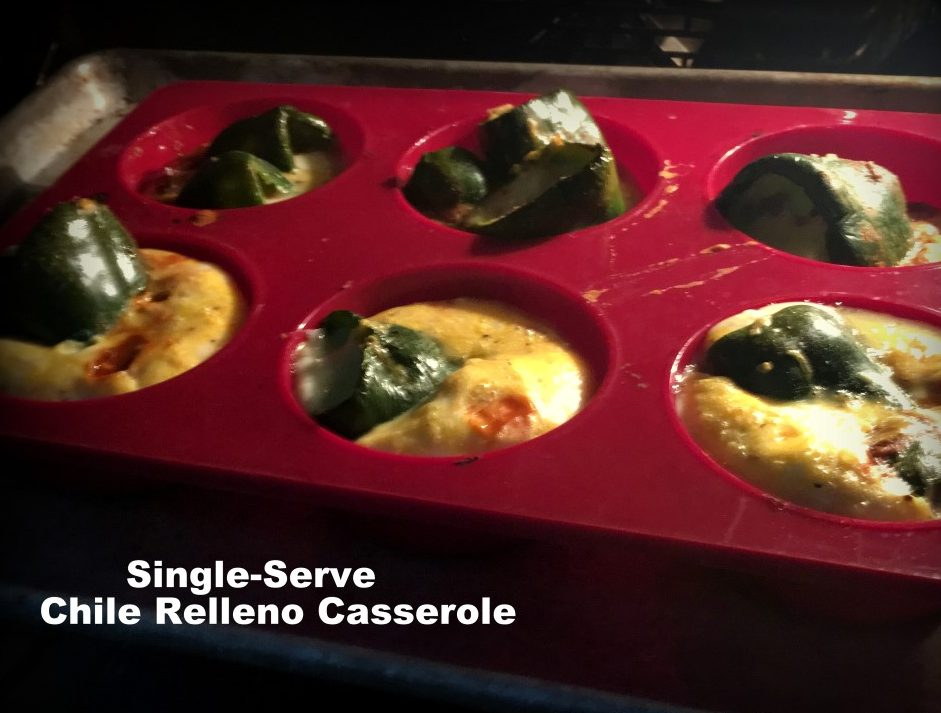 I love chile relleno, but it's more work in the kitchen than I want. Come see my lazy cook's version of chile relleno, baked into single-serve cups! #TxHomesteader