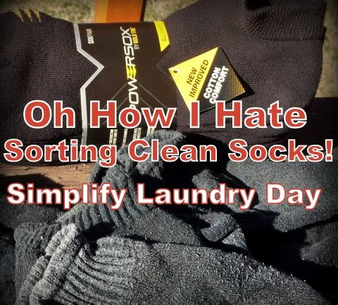 Do you hate sorting socks? I do! But I've found an easy way to eliminate that bag of mis-matched pairs and to streamline sorting socks on laundry day. #TexasHomesteader