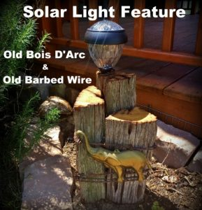 Solar Light Feature. We have several Bois d'Arc trees on our property. Although they're beautiful, they're incredibly functional as well. And how about those crazy-looking horse apples? #TxHomesteader