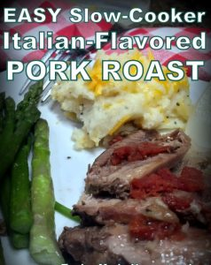 Italian Flavored Pot Roast Recipe. Chunk a few simple ingredients into a slow cooker and then sit back & wait for supper to be cooked for you! #TexasHomesteader