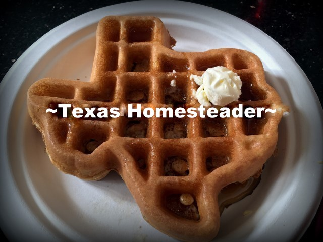 Texas-Shaped Waffles. We took a vacation in Ft. Worth, Texas. I've lived in the Dallas area most of my life, so of course I've been to Ft. Worth many times. But it was always to drive to a specific location or event, never to stay & play. Now this is gonna be fun! #TexasHomesteader