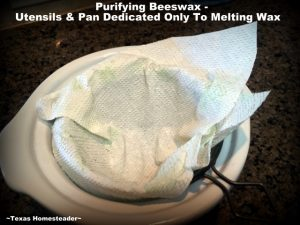 I can easily purify our beeswax and pour the melted wax into cute molds. I use it for homemade soap, lip balm & beeswax wraps. #TexasHomesteader