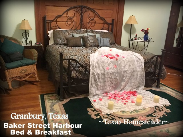 Baker Street Harbour B&B in Granbury, Texas - an anniversary trip. What a wonderful time we had! Come see my kind of souvenier shopping. #TexasHomesteader
