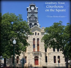 Granbury Courthouse in the square. RancherMan & I traveled to Granbury, Texas for our anniversary trip. What a wonderful time we had! #TxHomesteader