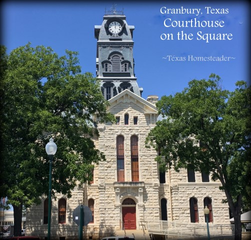 Courthouse in Granbury, Texas - an anniversary trip. What a wonderful time we had! Come see my kind of souvenier shopping. #TexasHomesteader