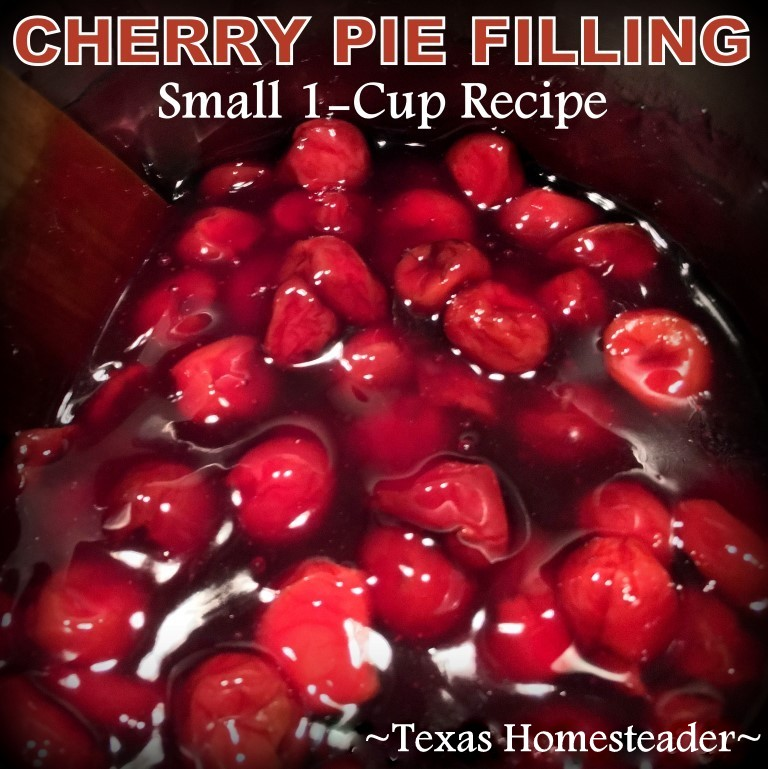 Throwback Thursday - make your own cherry pie filling using as many cherries as you like. No more expensive cans with very few cherries. #TexasHomesteader