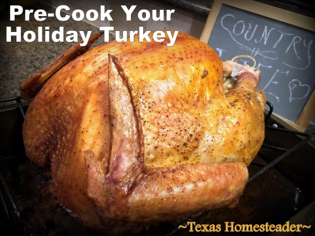 Pre-Roast Your Turkey! Are you hosting your family's holiday celebration this year? I'm sharing my favorite holiday cooking tips & quick & easy recipes. #TexasHomesteader