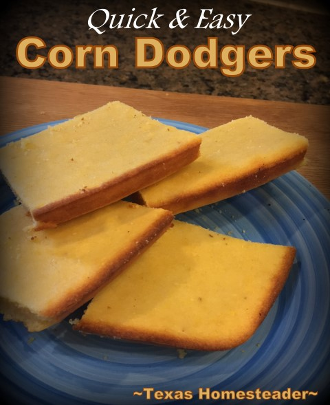 Corn Dodgers are like cornbread, but more dense and not as crumbly. My baking mistake had delicious results and I'll be making them from now on. #TexasHomesteader