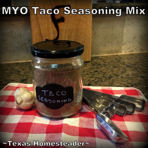 It's beyond easy to make your own taco seasoning. Just gather a few spices and blend! Come see my easy recipe. #TexasHomesteader
