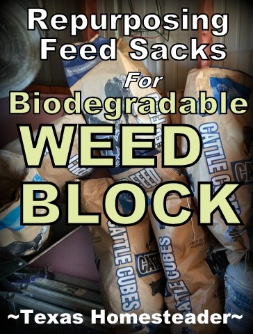 Biodegradable weed block for the garden? As it turns out, it's really a thing! And it degrades by the end of the season to just mix back into your soil. I hate the plastic weed block, this more natural material appeals to me! #TexasHomesteader