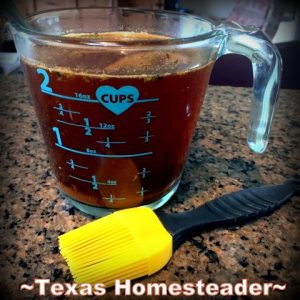 Homemade mop sauce. Delicious Smoked Pork using pecan wood smoke. Delicious. And shredding all that meat can be done in minutes using our shortcut. #TexasHomesteader