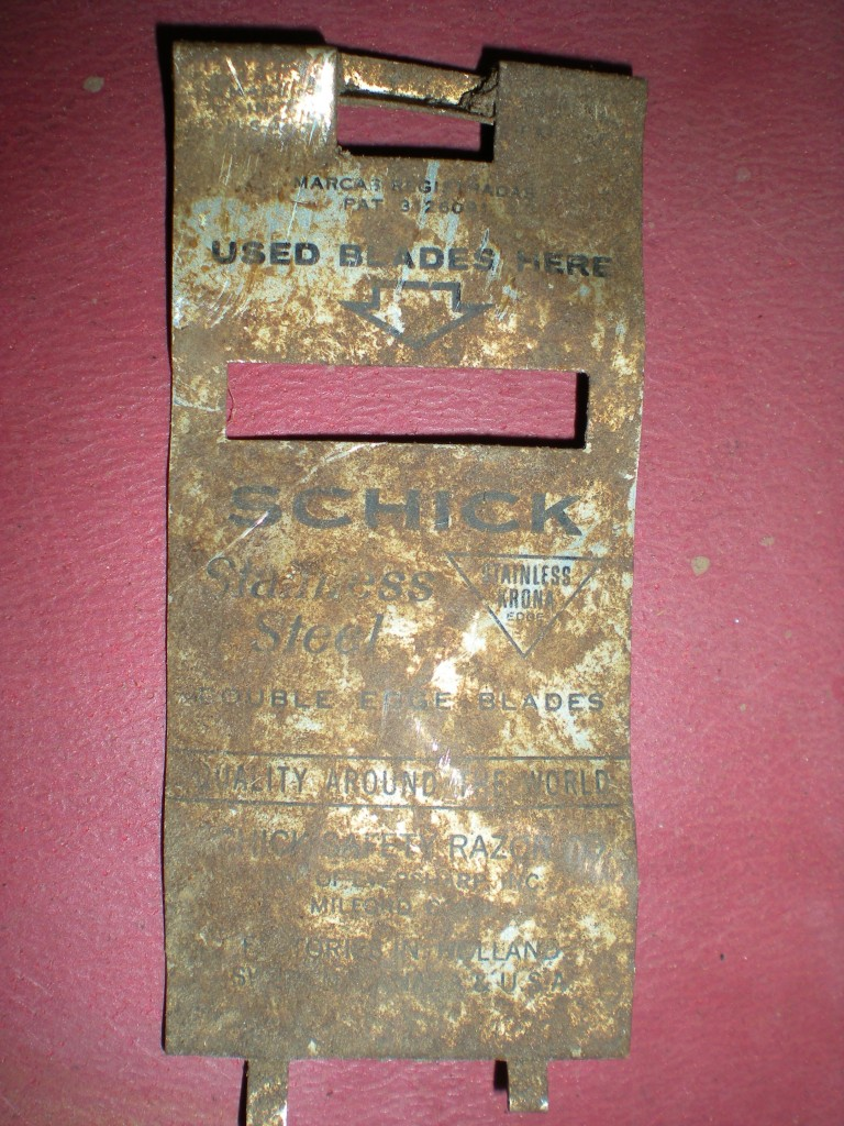 Razor blade box, Evidence of past lives on our homestead. #TaylorMadeHomestead
