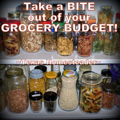 Read various ways we keep our grocery budget low by using planned leftovers, eliminating food waste and reducing convenience foods. #TexasHomesteader