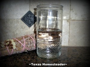 Your perception of the glass says a lot about you and the way you look at life. Is your glass half-full or half-empty? #TexasHomesteader