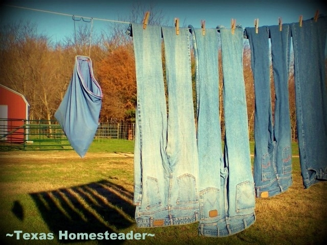 Laundry on the line. Make hay while the sun shines. Days and times on a Texas ranch. #TexasHomesteader