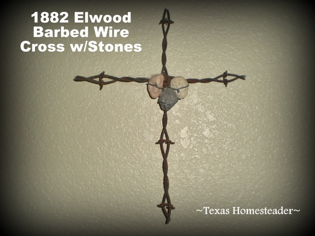 We used our 1882 Elwood barbed wire found on our Texas ranch to create beautiful art for our home. Beautiful! #TexasHomesteader