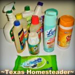 Easiest Self-Sufficiency Steps - make your own cleaners. Many are trying to practice self sufficiency these days. Come see how to save money on groceries, necessities, and make things yourself #TexasHomesteader